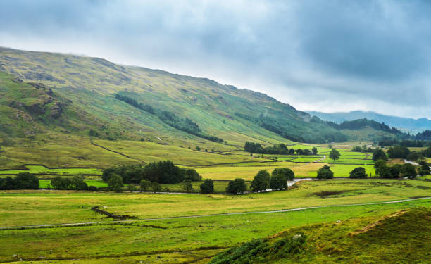 View on a Eskdale valley stock photo