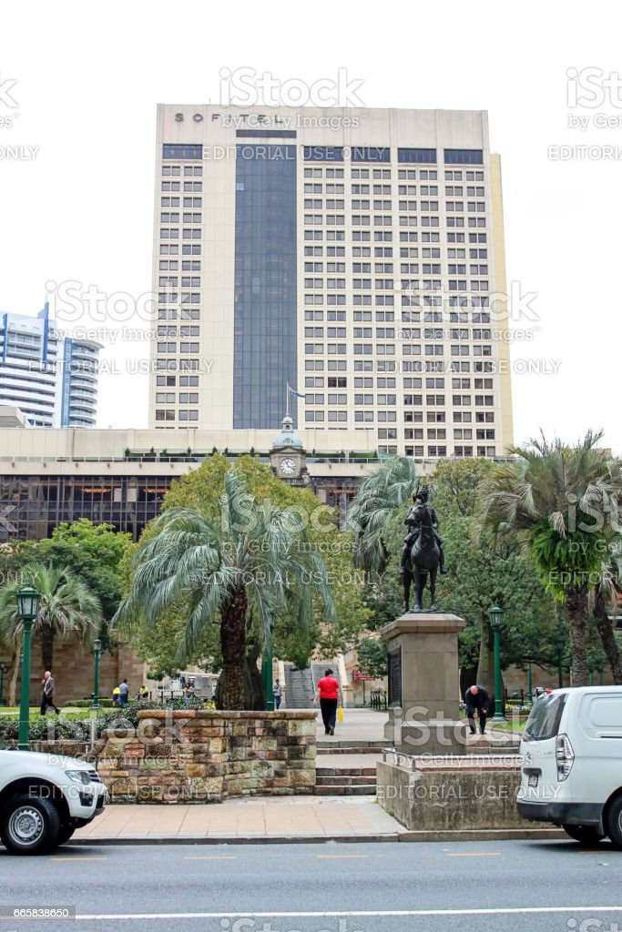 View on a hotel in Brisbane, Australia, 25.august 2011 stock photo