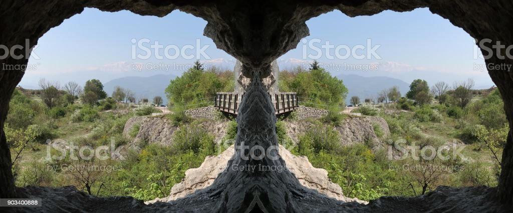 View on a plateau near Grenoble, France stock photo