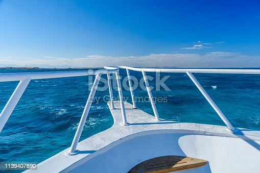 istock View on a Red sea from the yacht bow 1139407890