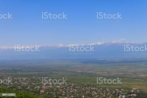 Visa På Vilage Valley Och Kaukasus Bergen Från Sighnaghi Kakheti Georgien-foton och fler bilder på Arkitektur