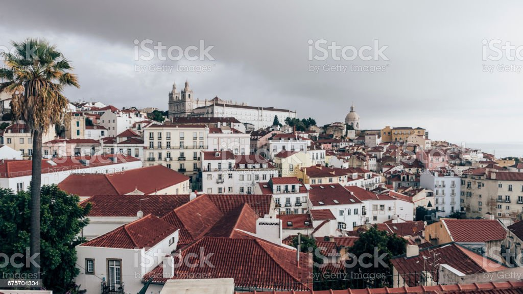 View on Alfama district royalty-free stock photo