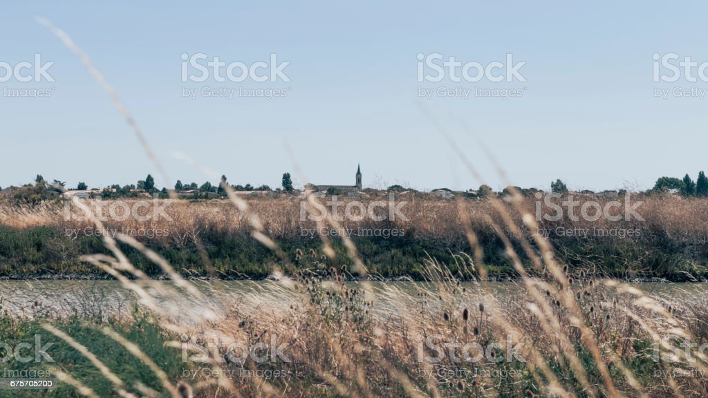 View on Ars en Ré village royalty-free stock photo