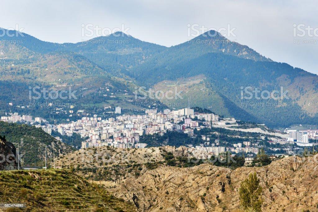View on Artvin city. Turkey royalty-free stock photo