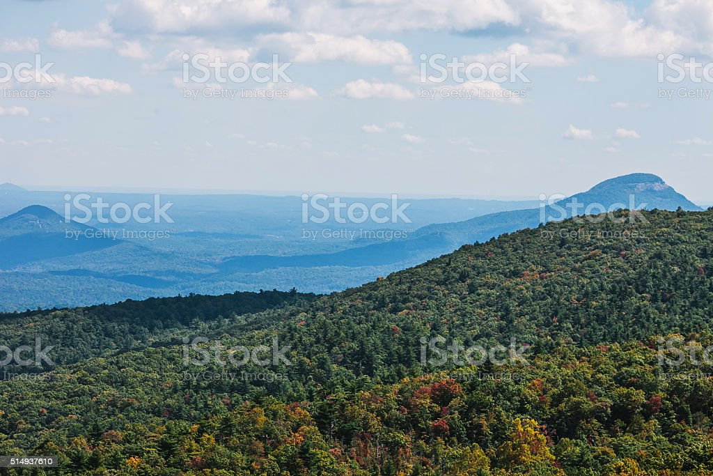 View on autumn Appalachian Mountains stock photo