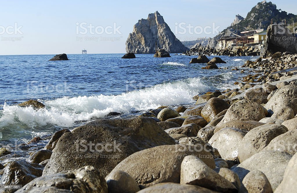 view on bay and mountain royalty-free stock photo