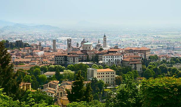 View on Bergamo stock photo