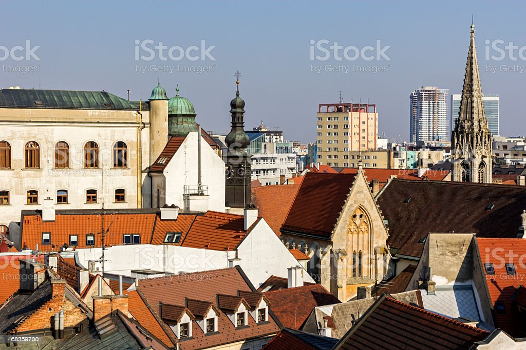 View on Bratislava royalty-free stock photo
