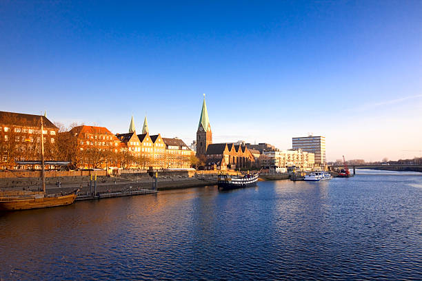view on Bremen stock photo