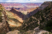 View on bright Angel Trail, Grand Canyon
