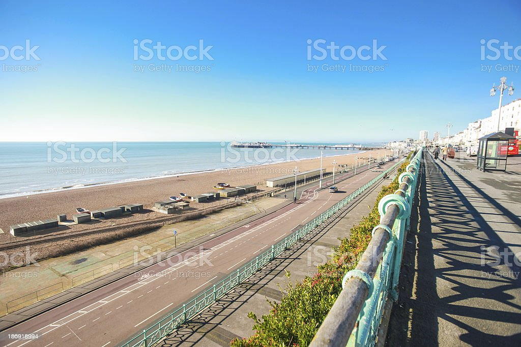 View on Brighton's cost royalty-free stock photo