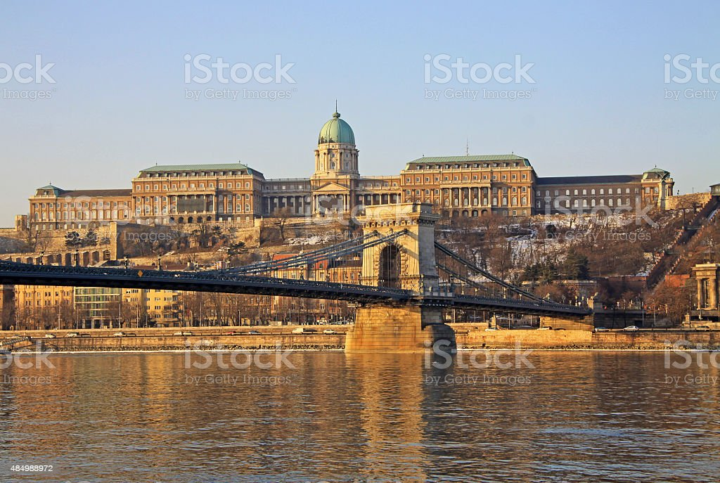 View on Buda castle of Budapest, Hungary stock photo