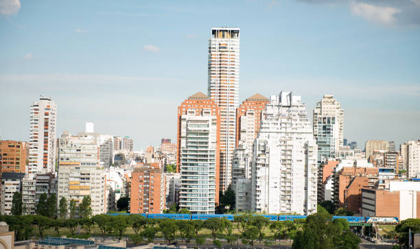 View on Buenos Aires stock photo