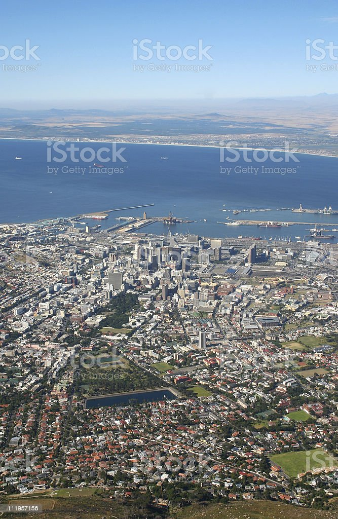 View on Cape Town royalty-free stock photo