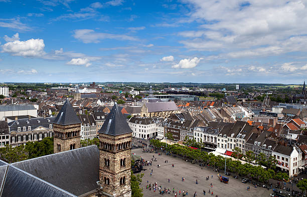 view on city Maastricht foto