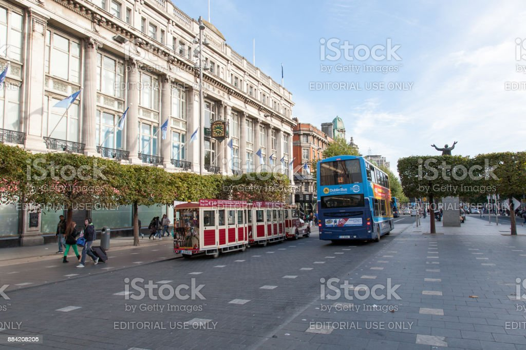 View on Clerys store from the Spire of Dublin stock photo