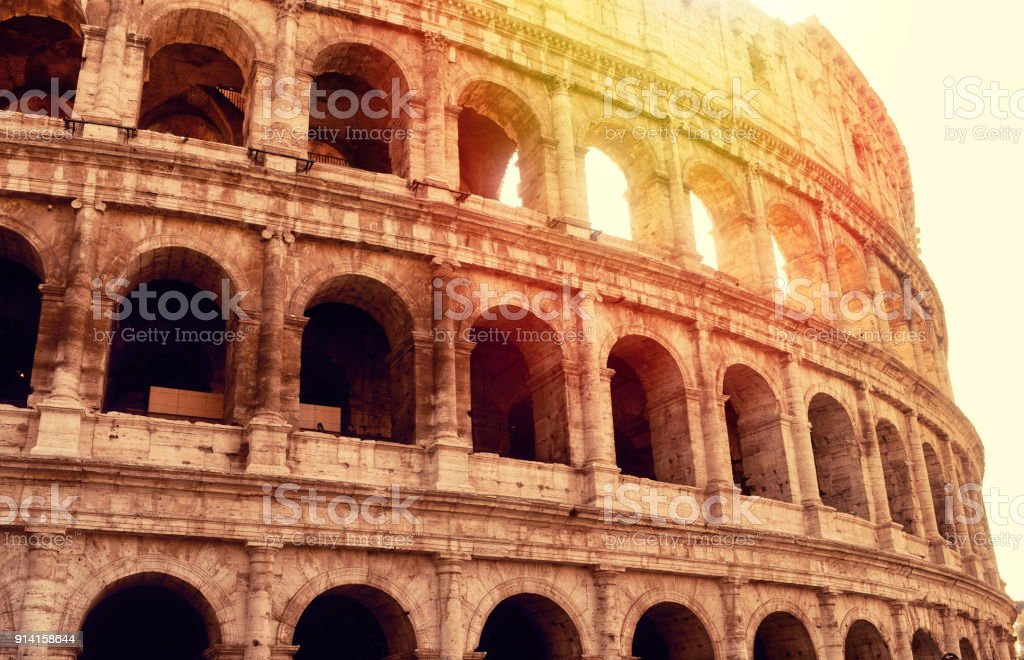 View on Coliseum in Rome stock photo