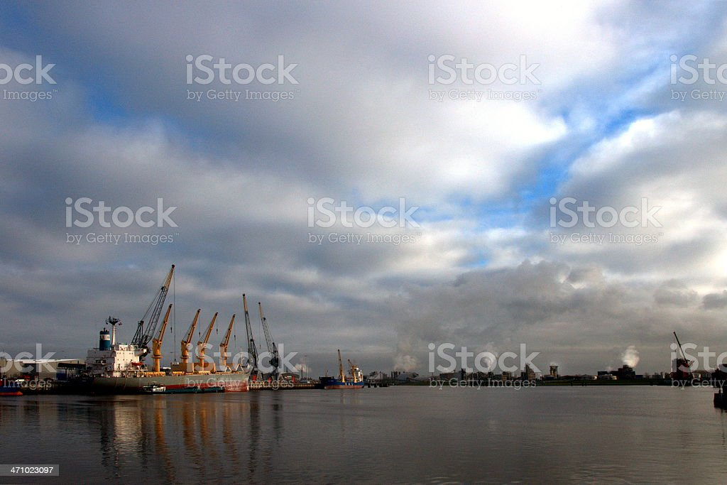 View on Delfzijl harbour royalty-free stock photo