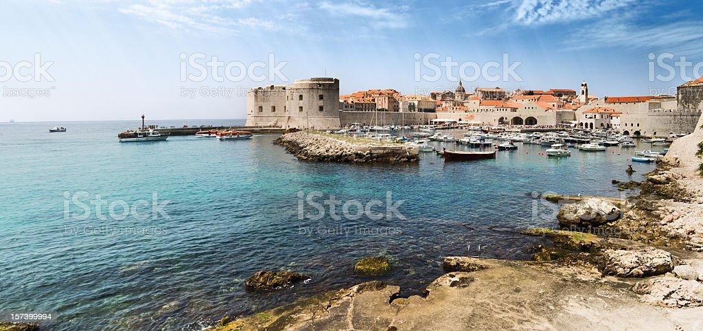 View on Dubrovnik in Croatia stock photo