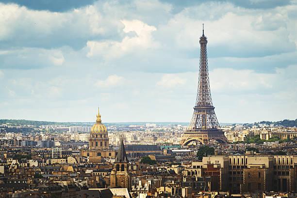 Blick auf Eiffelturm, Paris, Frankreich – Foto