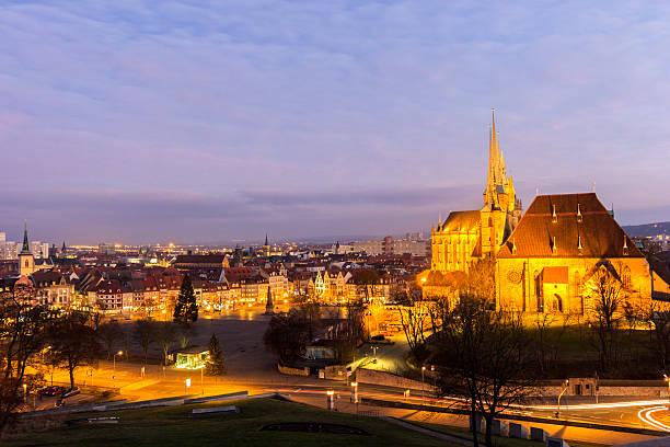 Blick auf Erfurt Stadt in Deutschland – Foto