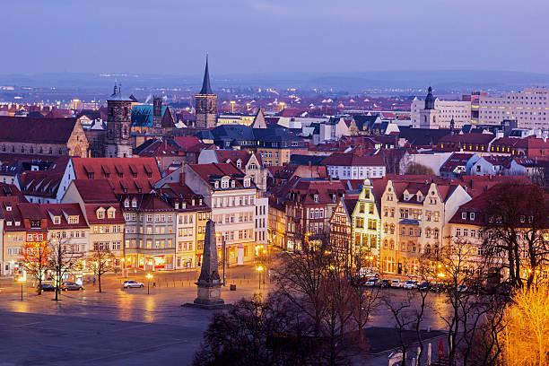 Blick auf Erfurt in Deutschland – Foto