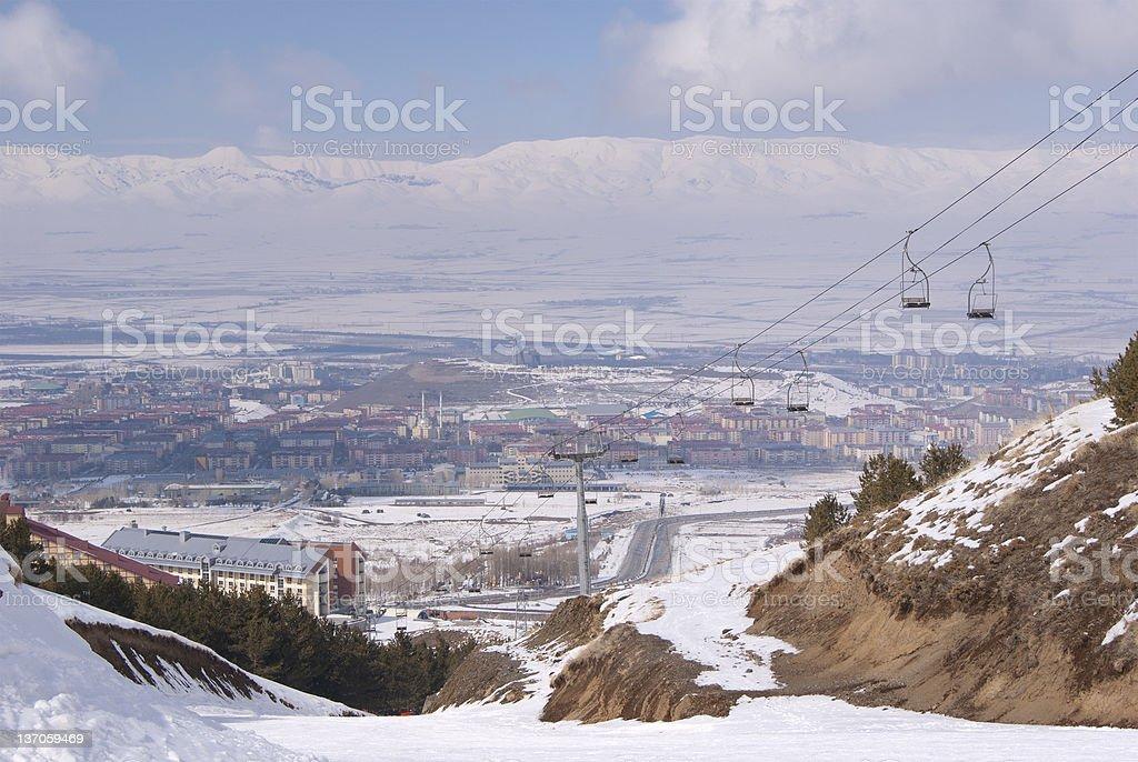 View on Erzurum. Turkey royalty-free stock photo