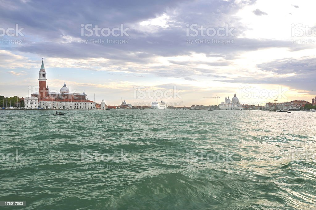 View on evening Venice. royalty-free stock photo