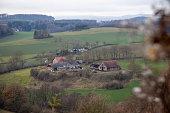 Herdingen, NRW, Germany, 12 12 2020, view on farmhouse nearby the village, landscape