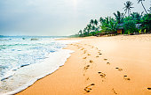 View on tropical beach next of Tangalle - Sri Lanka