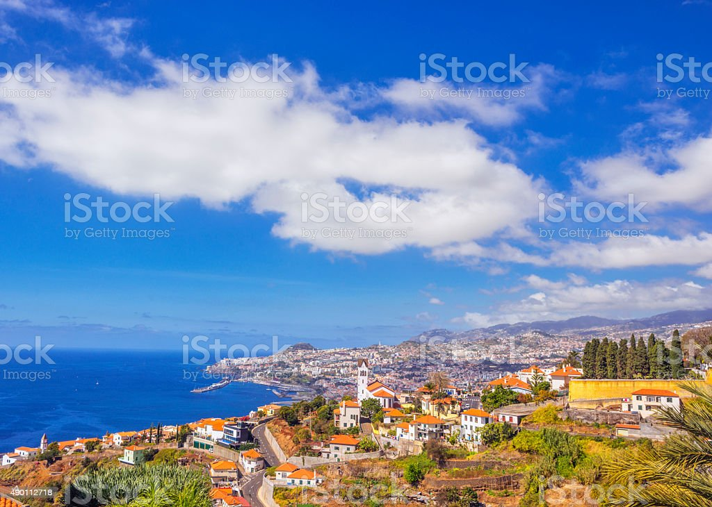 View on Funchal stock photo