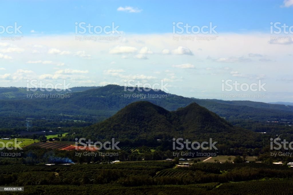 View on Glass House Mountains photo libre de droits