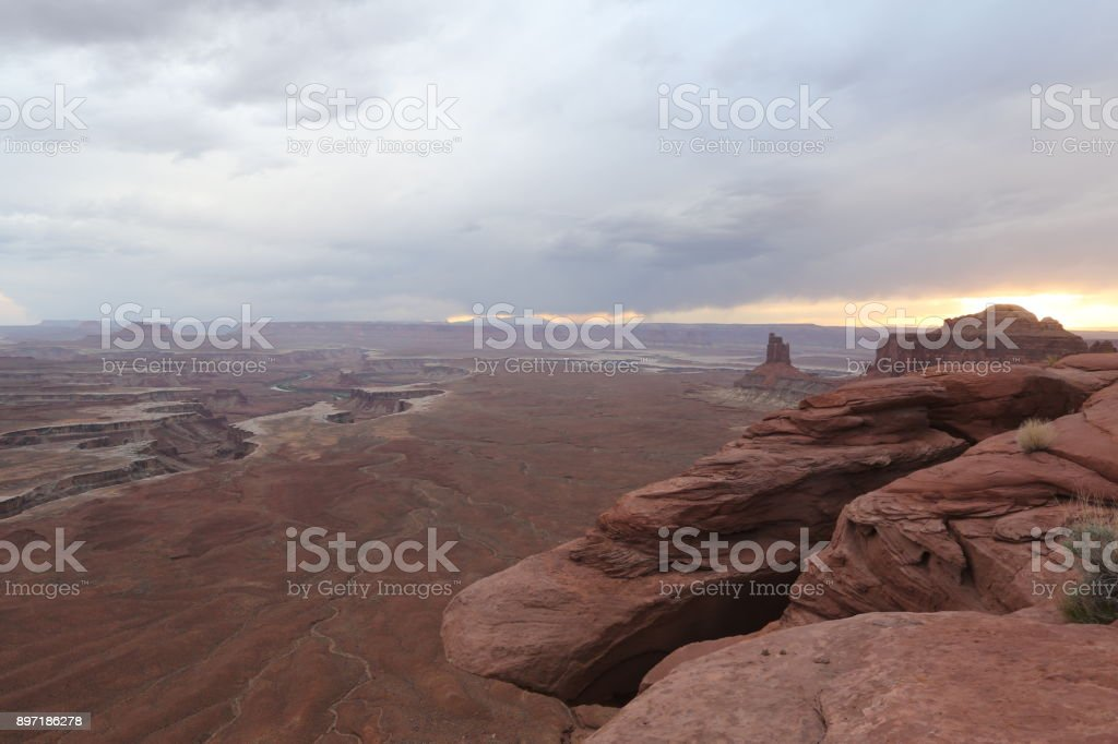 View on Grand canyon in Arizona stock photo