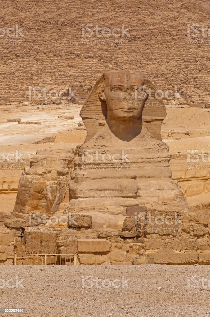 view on Great Sphinx at Giza stock photo