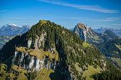 View on Gross Aubrig peak in canton of Schwyz in Switzerland