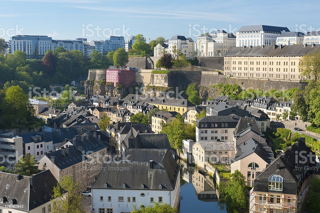 View on Grund, Luxembourg stock photo