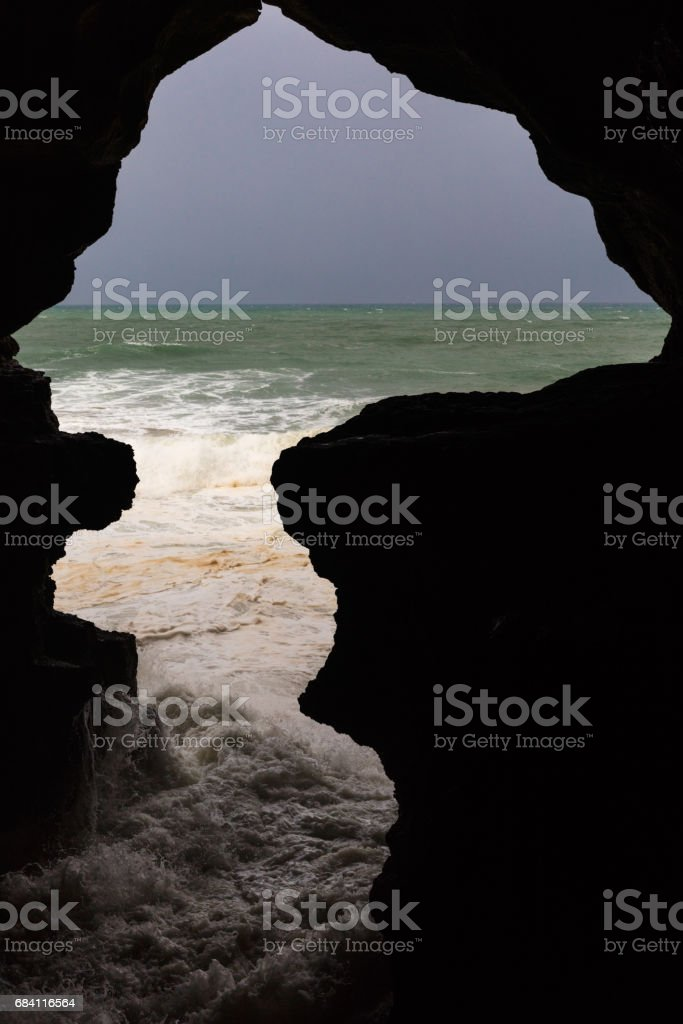 View on Hercules Grotto near Tangier foto stock royalty-free