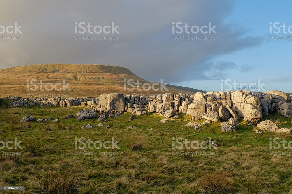 View on Ingleborough, North Yorkshire stock photo