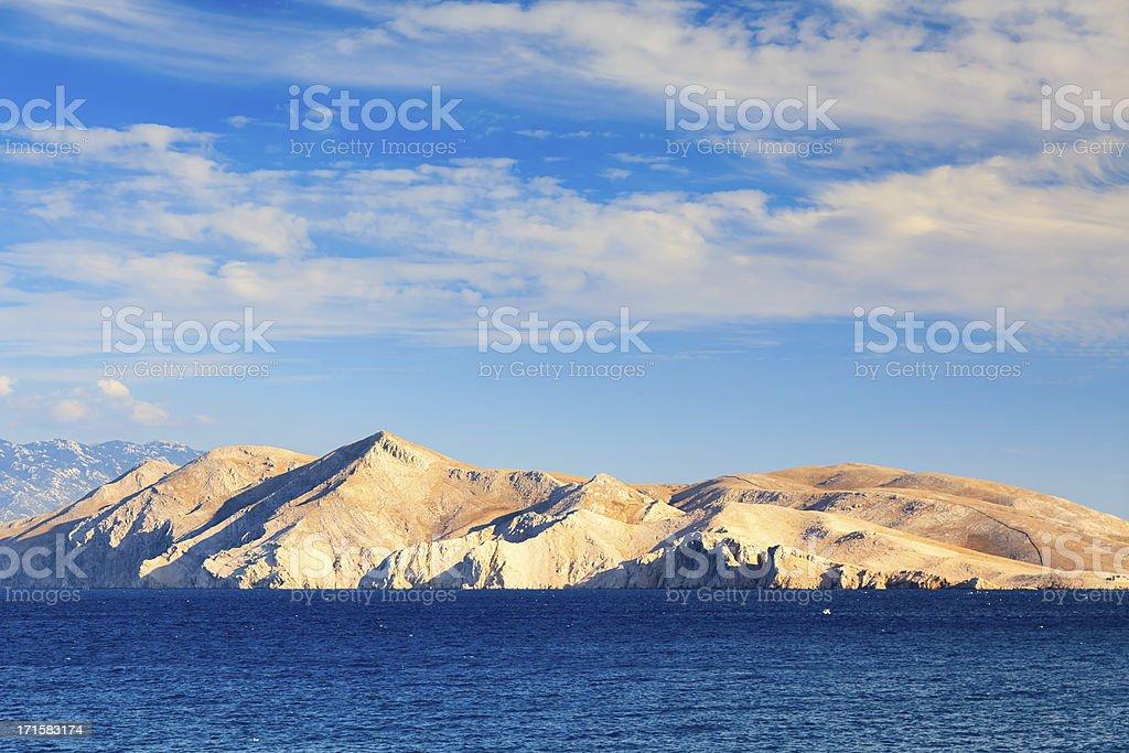 View on Island Prvic, Croatia royalty-free stock photo