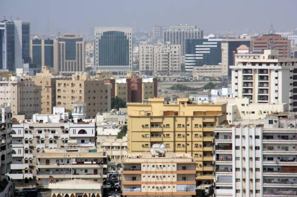 view on jeddah - sharia foto e immagini stock