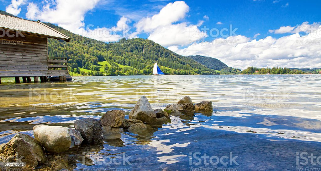 View on lake Schliersee royalty-free stock photo
