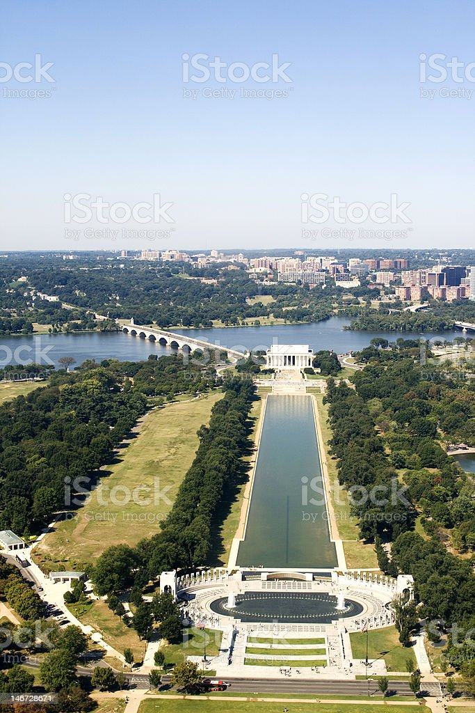 View on Lincoln memorial royalty-free stock photo