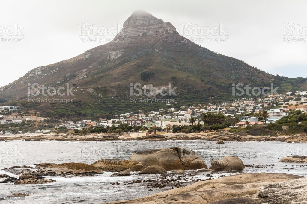 View on Lion Head mountain in Cape Town stock photo
