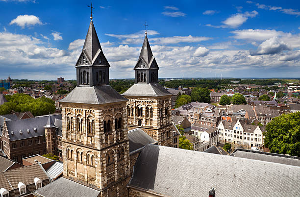 view on Maastricht from the top of Sint-Janskerk foto
