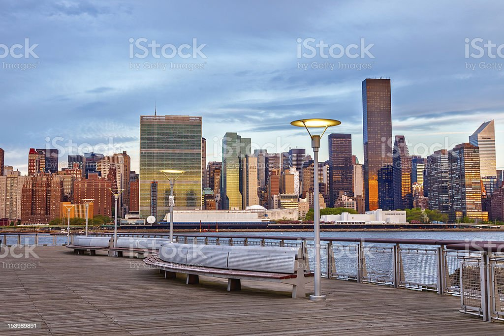 View on Manhattan from Brooklyn stock photo