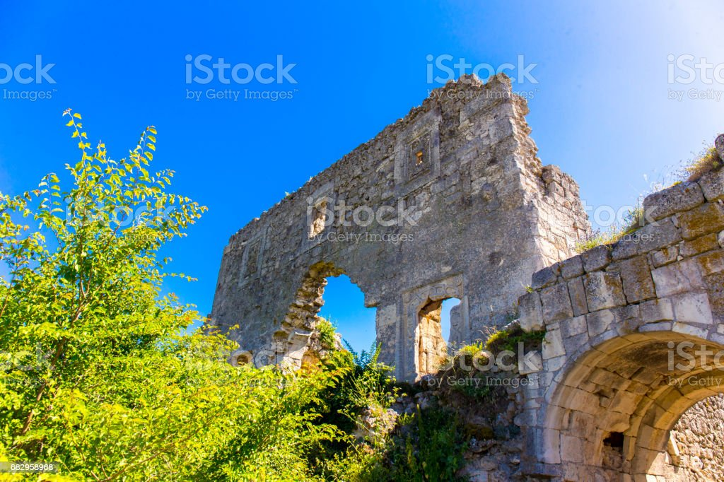 View on medieval fortress Mangup Kale royalty-free stock photo