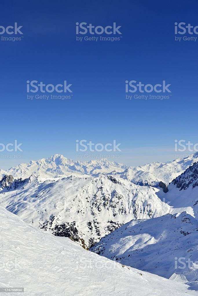 View on Mont Blanc royalty-free stock photo