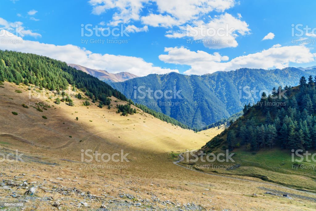 View on Mountains in Tusheti Nature Reserve. Georgia foto stock royalty-free