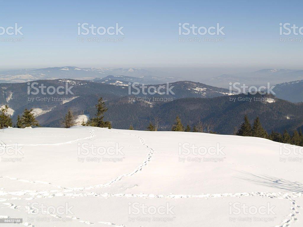 Blick auf die Berge Lizenzfreies stock-foto