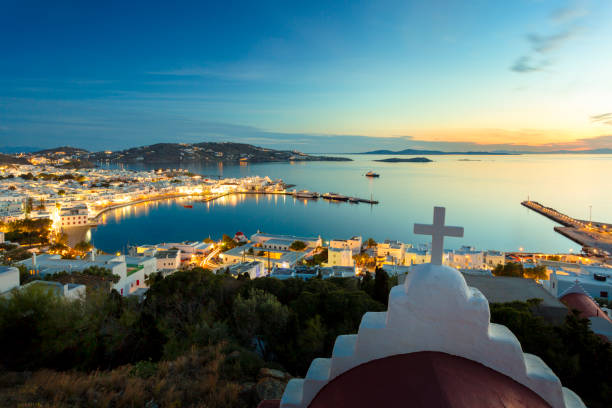 Blick auf Mykonos Stadt in Griechenland. – Foto